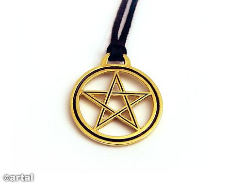 Pentagram pozłacany